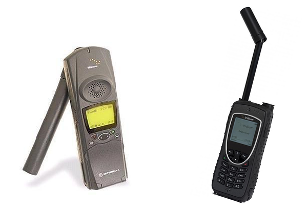 side by side Iridium satphones from 1998 and 2011